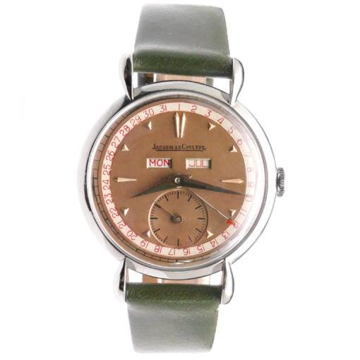 jaeger lecoultre triple date vintage calendar watch