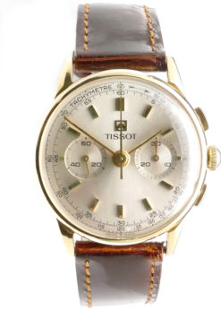 Tissot Vintage Solid Gold Chronograph Watch