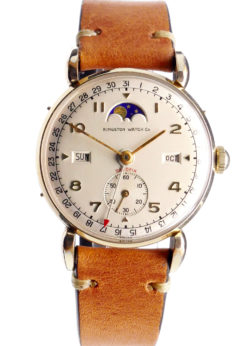Kingston Datofix Triple Date Moonphase Vintage Watch